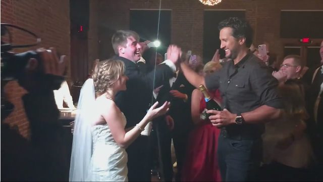 Luke Bryan crashed a wedding in Savannah this weekend  WSBTV