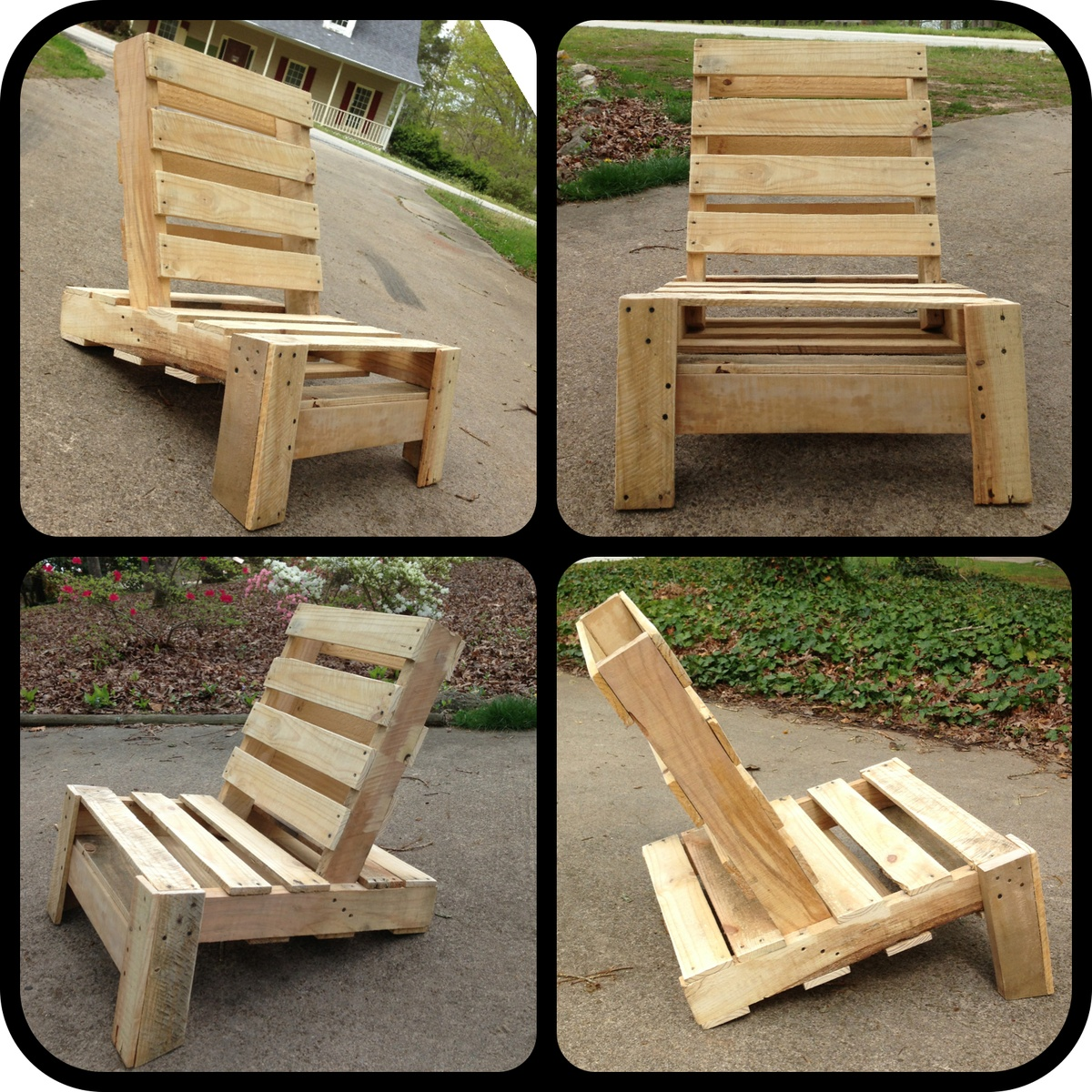 pallet wood chair orange outdoor chairs rustic table furniture plans