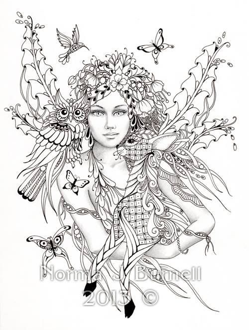 Free Printables: Mother Earth Coloring Page (This may not