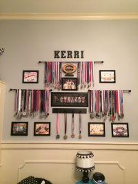 Trophy shelf, Medal displays and Lanyards on Pinterest