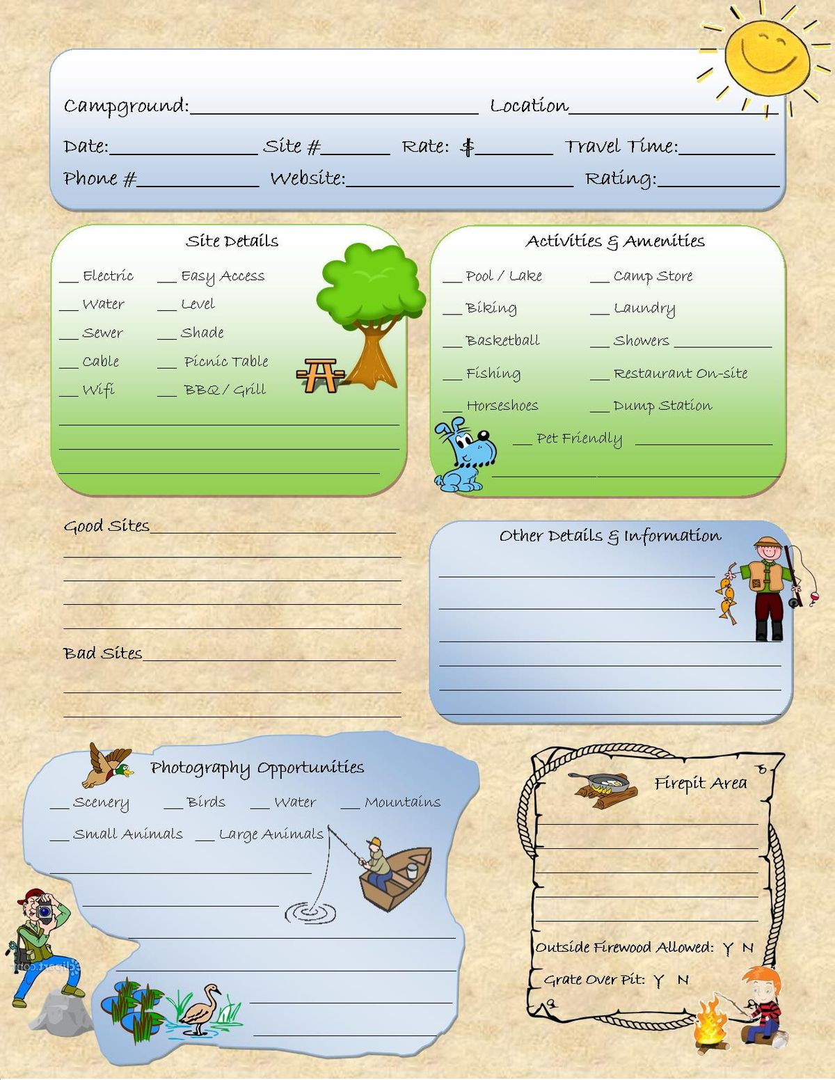 Start A Camping Notebook Circle The Good Campsites On