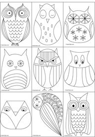 Great owl templates...