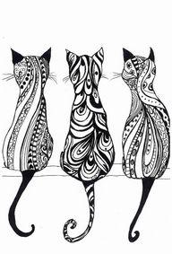 A4 Monochrome cat pr...