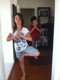 Day 27 & 28- My kids doing yoga:)  So cool:)))