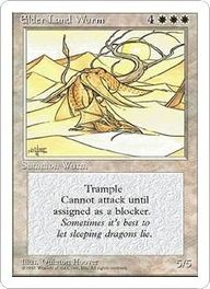 Magic: The Gathering Elder Land Wurm (Quinton Hoover)  http://www.cardkingdom.com/catalog/item/10103