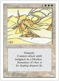 Magic: The Gathering Elder Land Wurm (Quinton Hoover)  http://www.cardkingdom.com/catalog/item/10103