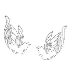 Ascending Dove with Olive Branch Embroidery Design (you