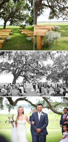 Summer backyard wedding via @WeddingWire photos by Donna Von Bruening