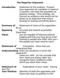 Example Rogerian Argument Essay Rogerian Argument Essay Nikki Hunt