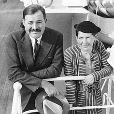 Ernest and wife #2, Pauline Pfeiffer.  A large part of their marriage was spent in Key West.  Ernest converted to Catholicism for her.