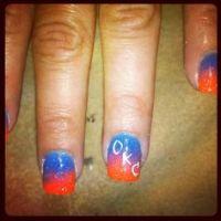 Thunder Nails on Pinterest | Nails, Nail Art and Basketball