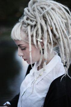 blonde dread locks