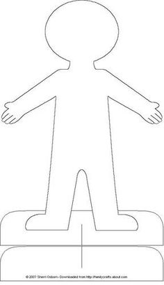 paper doll. or body template. I will have Kindergarteners