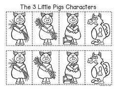 3 Little Pigs Stick Puppets Pictures to Pin on Pinterest