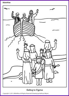 Pauls Missionary Journey Coloring Page Sketch Coloring Page