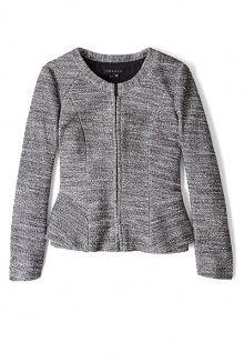 pursue jondi tweed peplum jacket by Theory