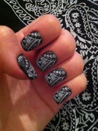 Southern girl style nails.