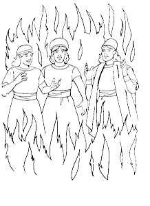 Shadrach Meshach Abednego Printable Coloring Pages