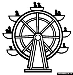 Paper Roller Coaster Coloring Pages