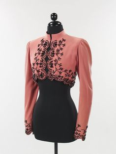 Elsa Schiaparelli beaded wool jacket 1940