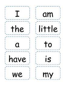 Kindergarten Reading Street Sight Word Readers and Pocket