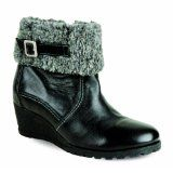 LUNAR GLH723 BLACK FUR TRIM LEA BOOT