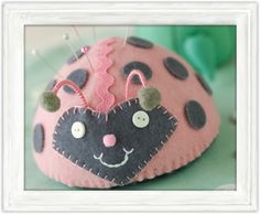 Love Bug, my ladybug pincushion in Stitch Craft Create magazine and on their website
