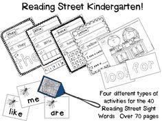 Reading Street Kindergarten Sight Word Practice! 4