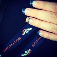 Nail Designs on Pinterest | Denver Broncos, Party Nails ...