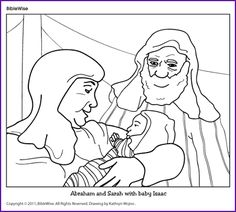 Birth Of Isaac Coloring Page Coloring Pages