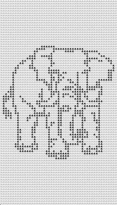 Free Filet Crochet Elephant Pattern ~ Pakbit for