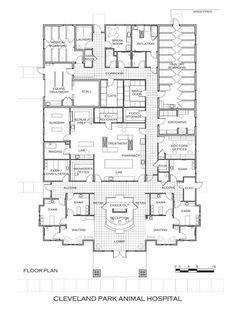 Floor plans: Veterinary hospital design on Pinterest