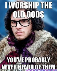 hahaha Hipster Jon Snow @Betsy Weingart