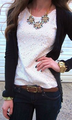 Jcrew lovely top and cardigan