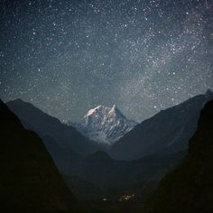 stars and mountaintop