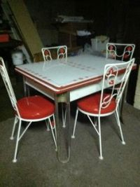 chrome kitchen dinette table and chairs on Pinterest ...