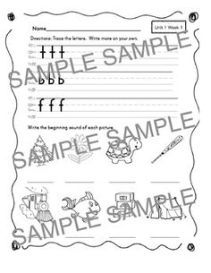 fundations writing paper for kindergarten