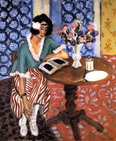 Woman Reading at a Small Table / Henri Matisse - circa 1923