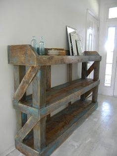 rustic bookcase plans