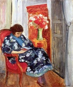 Young woman reading, 1920  / Henri Lebasque