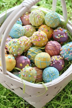 Easter Cake Balls made w/ Chobani Greek Yogurt!