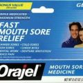 Orajel mouth sore pain relief 42 oz gel by orajel 6 43 delivers