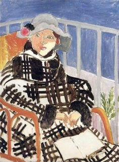 Mlle Matisse in a Scotch Plaid Coat, 1918 / Henri Matisse