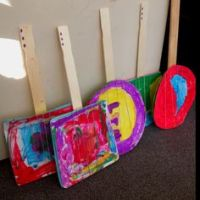 Class Art on Pinterest | Banjos, Paper Plates and Rubber Bands