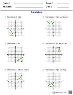 Math Reflections Rotations Translations on Pinterest