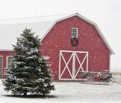 Christmas Barns On Pinterest Red Barns Country