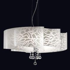 Il colore bianco nell'arredamento e nell'illuminazione moderna per interni.  Scopri la collezione di Lampade Contemporanea Ventaglio!