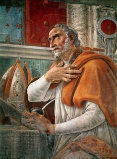 St. Augustine of Hippo, died 430 A.D. Next to Aquinas, he's the greatest & most influential Christian thinker ever. Brilliant theologian, philosopher, and bishop. He managed to relentlessly pursue Truth even after getting caught up in various sects & with various women. He eventually gave in to God and converted to the Christian faith. His articulation of the relationship between faith & authority was instrumental in my conversion to the Catholic Church.