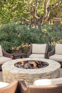Rustic Fire Pits on Pinterest  Fire Pit Swings Porch