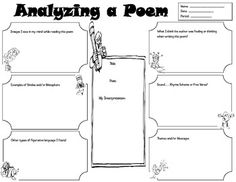 poetry analyzer worksheet graphic organizer